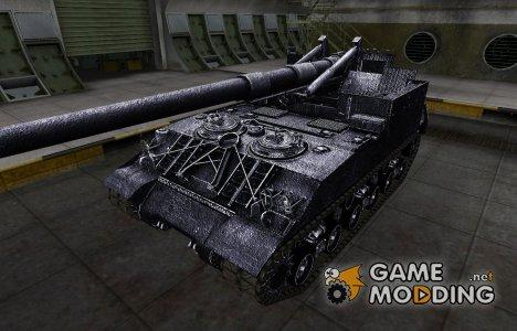 Темный скин для M40/M43 for World of Tanks
