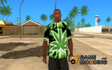 Футболка марихуана для GTA San Andreas