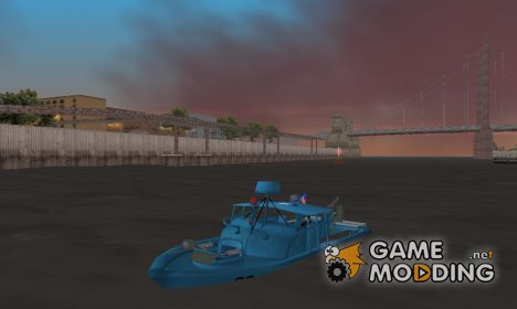 Patrol Boat River Mark 2 (Player_At_Wheel) для GTA 3
