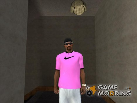 Розовая футболка Polo Nike for GTA San Andreas