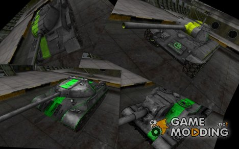 Мини пак танков с зелеными полосами for World of Tanks
