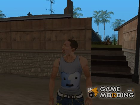 Белая майка с значком OS Mac для GTA San Andreas