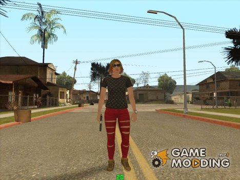 Dinero Sucio Girl (DLC GTA Online) for GTA San Andreas