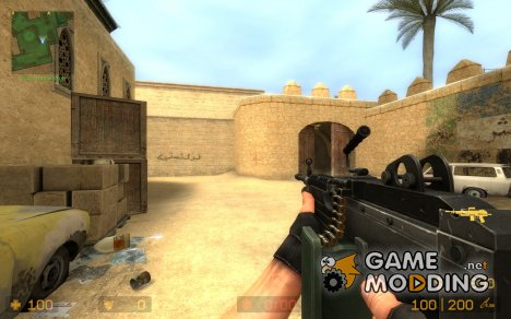 Re-Originated Default M249 Machinegun для Counter-Strike Source