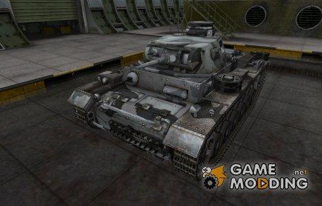 Шкурка для немецкого танка PzKpfw III для World of Tanks