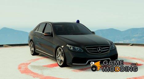 Mercedes E63 Unmarked (with blue siren) FINAL для GTA 5