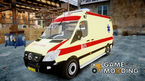 Mercedes-Benz Sprinter 311 cdi Belgian Ambulance for GTA 4