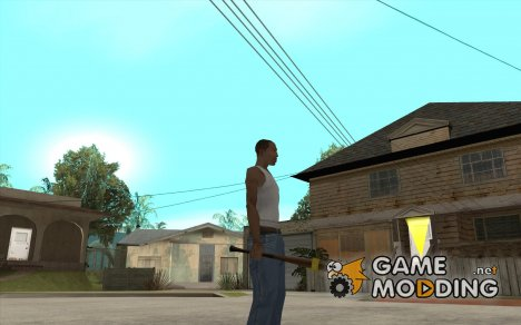 Бита с жёлтой повязкой для GTA San Andreas