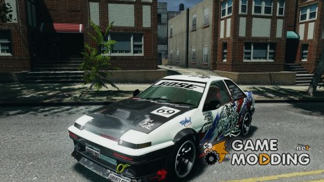 Toyota Corolla GT-S AE86 for GTA 4