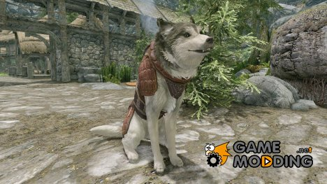 Ralgas - Armored Husky Follower -DIALOGUE FIXED- для TES V Skyrim
