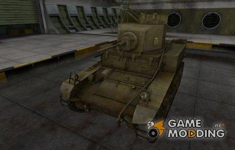 Шкурка для М3 Стюарт в расскраске 4БО for World of Tanks