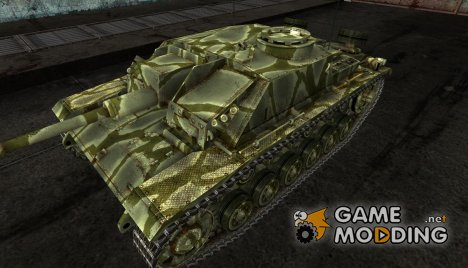 Шкурка для StuG III Green for World of Tanks