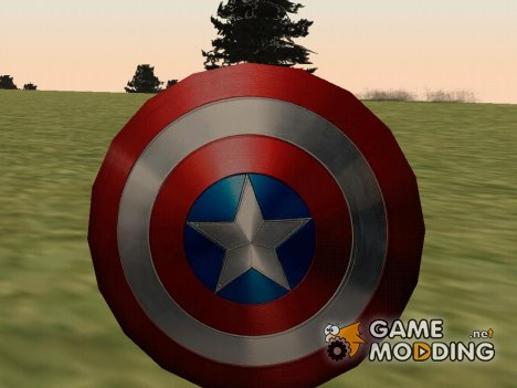 Captain America shield v2 для GTA San Andreas