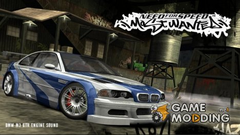 BMW M3 GTR Engine Sound (Need For Speed Most Wanted) для GTA San Andreas