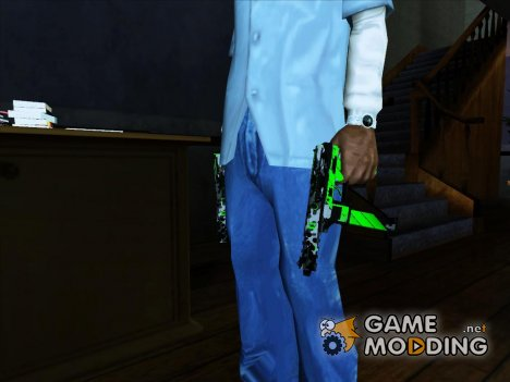 Tec-9 Neural CS GO Green for GTA San Andreas