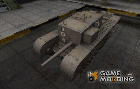 Зоны пробития контурные для Churchill Gun Carrier для World of Tanks