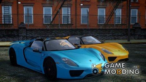 2013 Porsche 918 для GTA 4