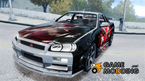 Nissan R34 Paintjob by eXTaron for GTA 4
