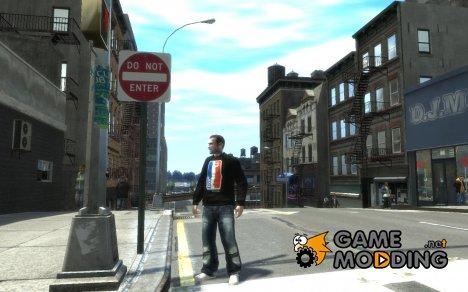 Футболка для Нико for GTA 4
