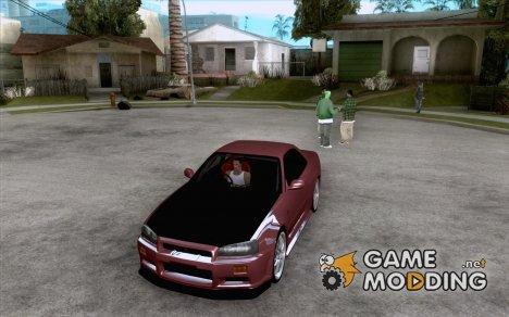 Nissan Skyline R 34 for GTA San Andreas
