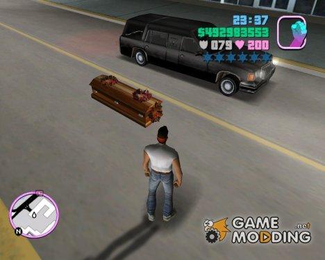 Romeros Hearse Drop Explosive Coffins for GTA Vice City
