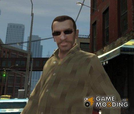 Новые очки для Нико - темные for GTA 4