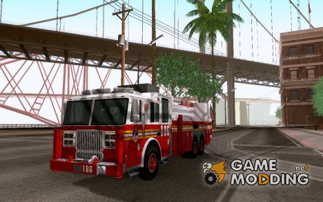 Seagrave Marauder. F.D.N.Y. Tower Ladder 186 для GTA San Andreas