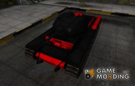 Черно-красные зоны пробития КВ-1С для World of Tanks