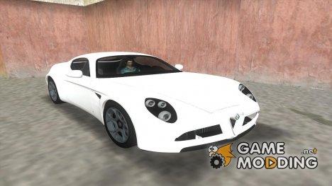 Alfa Romeo 8C Competizione TT Black Revel for GTA Vice City