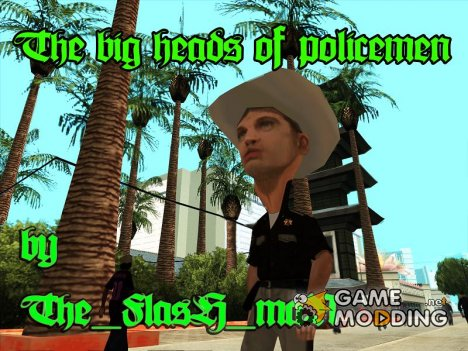 The Big Heads Of Policemen для GTA San Andreas