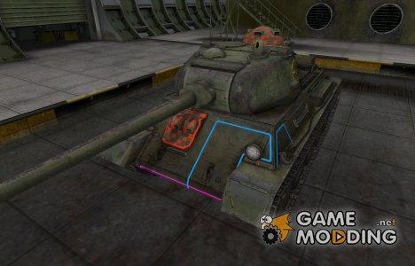 Контурные зоны пробития Т-43 для World of Tanks