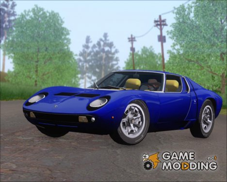 Lamborghini Miura P400 1967 for GTA San Andreas