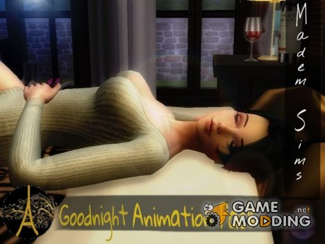 Goodnight Animation Pack для Sims 4
