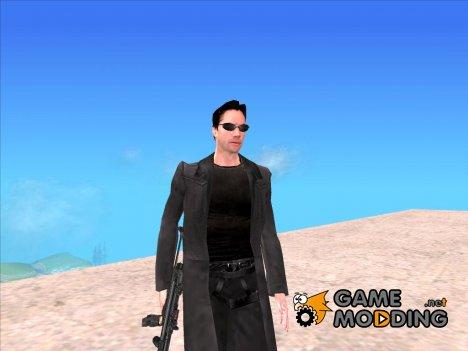 Нео из Матрицы for GTA San Andreas