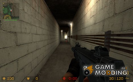 Tenoyl's HK SMG 2 on Flame's animations для Counter-Strike Source