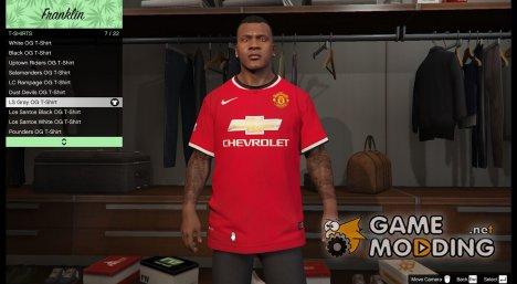 Футболка Manchester United для Франклина для GTA 5