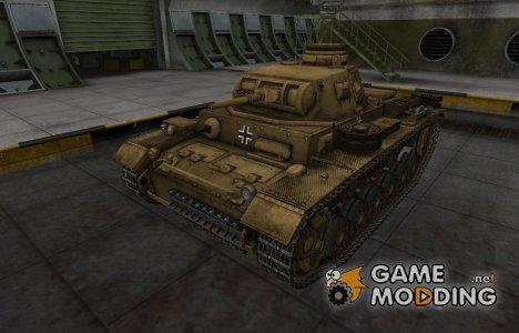 Немецкий скин для PzKpfw III для World of Tanks
