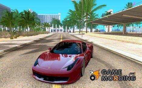 Ferrari 458 F142 for GTA San Andreas