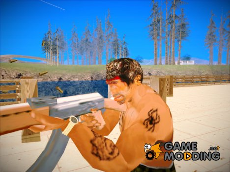 Rambo Player Model для GTA San Andreas