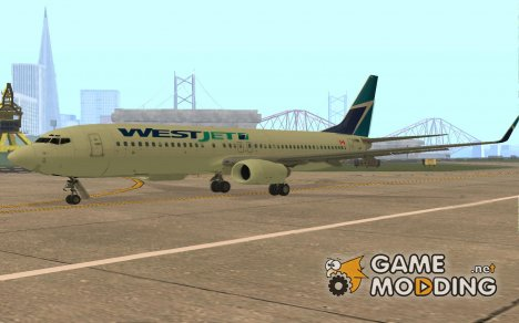 Boeing 737-800 WestJet for GTA San Andreas