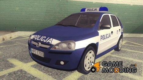 Opel Corsa C Police (Policja) для GTA San Andreas