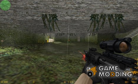 M4A1 Hacked with LAM, Aimpoint and Machete для Counter-Strike 1.6