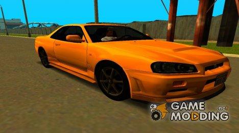 1999 Nissan Skyline GTR-34 V-spec для GTA San Andreas