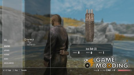 Iron Bolts for Crossbows для TES V Skyrim