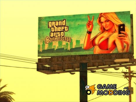 GTA 5 Girl Poster billboard for GTA San Andreas