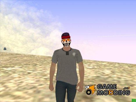 Парень в гриме и в очках GTA Online для GTA San Andreas