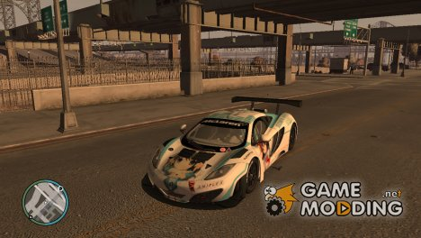 McLaren MP4-12C GT3 - Itasha for GTA 4