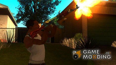 """АК-47 """"Огненный змей"""" for GTA San Andreas"""