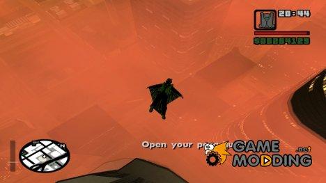 Wingsuit Mod 0.2 beta для GTA San Andreas
