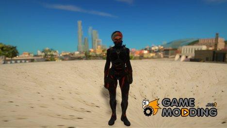 Женский нанокостюм медика из Warface для GTA San Andreas